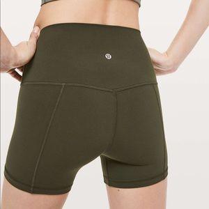 Lululemon dark olive Align shorts size 8